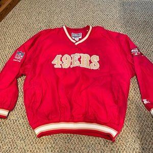 Vintage Starter 49ers Pullover